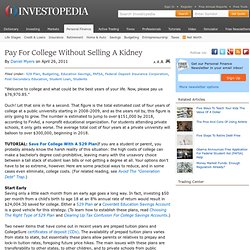 Pay For College Without Selling A Kidney