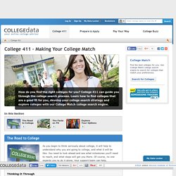 Use the College Match college search engine to find colleges that are right for you.