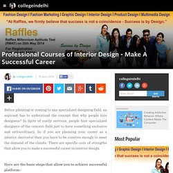 collegeindelhi - Professional Courses of Interior Design - Make A Successful Career