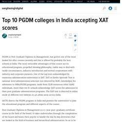 Top 10 PGDM colleges in India accepting XAT scores