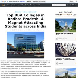 Top BBA Colleges in Andhra Pradesh- A Magnet Attracting Students across India