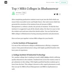 KIIT the Top MBA College for Career in India
