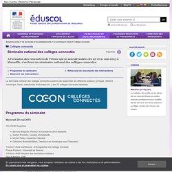 Collèges connectés - Séminaire national des collèges connectés