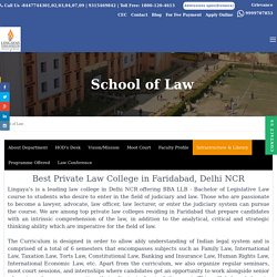 Best Law Colleges, LLB, BBA-LLB, LLM Colleges in Delhi NCR, Faridabad, India