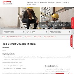 Best B Arch Colleges in Delhi, India