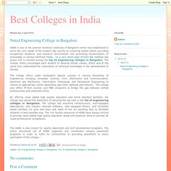 Best Colleges in India: Noted Engineering College in Bangalore