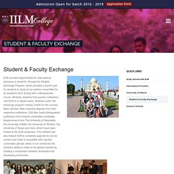 Colleges with Exchange Program for Students and Faculty