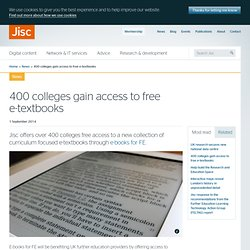 400 colleges gain access to free e-textbooks