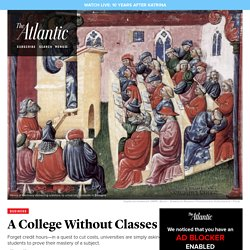 Colleges Cutting Lectures, and Costs