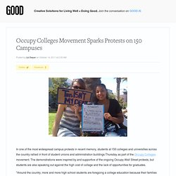 Occupy Colleges Movement Sparks Protests on 150 Campuses - Education