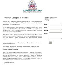Women Colleges in Mumbai - bmncollege