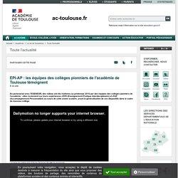 EPI-AP : les équipes des collèges pionniers de l'académie de Toulouse témoignent