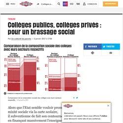 Collèges publics, collèges privés : pourun brassage social
