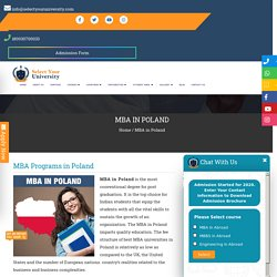 Study MBA in Poland From Top Management College At Low Fees