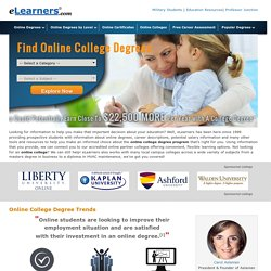 Online Colleges & Universities - Online Degrees - Online College Courses