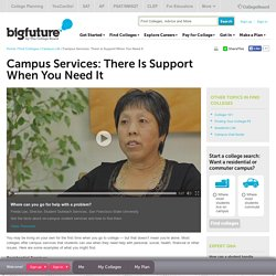 Find Colleges - Campus Services: There Is Support When You Need It