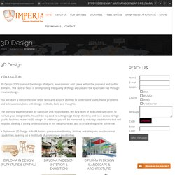 Best 3D Design Schools/Colleges Course in Singapore - Imperial-overseas.com