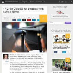 17 Great Colleges for Students With Special Needs