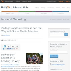 Colleges and Universities Lead the Way with Social Media Adoption