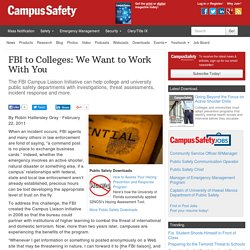 FBI to Colleges: We Want to Work With You - Campus Safety