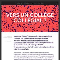 Vers un collège collégial ? - Aubervilliers, 2017