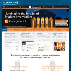 Campus Labs - Products - CollegiateLink