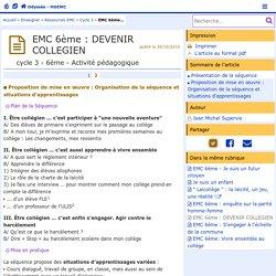 EMC 6ème : DEVENIR COLLEGIEN - Page 2/2
