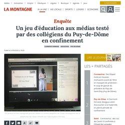 Un jeu d'éducation aux médias testé par des collégiens du Puy-de-Dôme en confinement