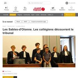 Les Sables-d'Olonne. Les collégiens découvrent le tribunal - La Roche sur Yon.maville.com