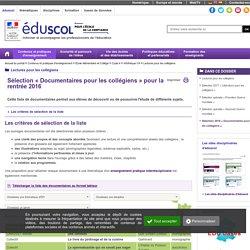 Lectures pour les collégiens - Sélection « Documentaires pour les collégiens »