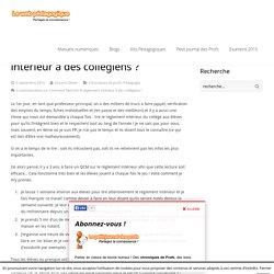 Comment faire lire le règlement intérieur à des collègiens ? - LeWebPédagogique