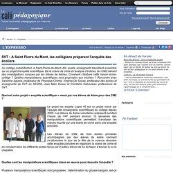 SVT : A Saint Pierre du Mont, les collégiens préparent l'enquête des écoliers
