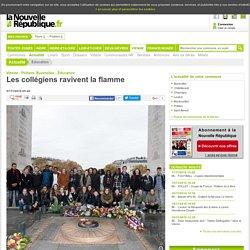 Les collégiens ravivent la flamme - 07/11/2016