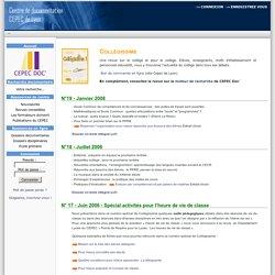 collégissime, dossier HVC voir n°17 juin2006