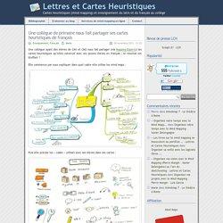 » Une collègue de primaire nous fait partager ses cartes heuristiques de français - Lettres et Cartes Heuristiques