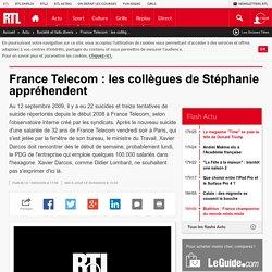 France Telecom : les collègues de Stéphanie appréhendent