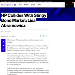 HP Collides With Stingy Bond Market: Lisa Abramowicz