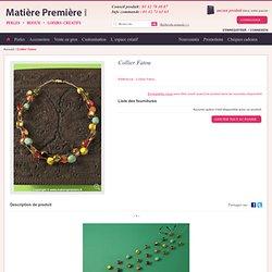 Collier Fatou - Colliers - Bijoux - L´espace créatif