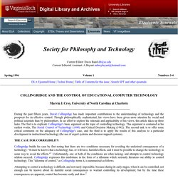 SPT v1n3n4 - Collingridge and the Control of Educational Computer Technology