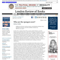 Stefan Collini · Who are the spongers now? · LRB 21 January 2016