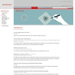 Articles - Leadership