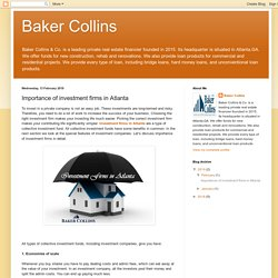 Baker Collins: Importance of investment firms in Atlanta