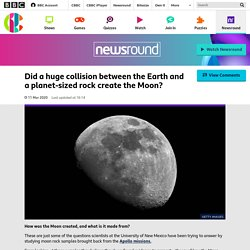 Did a huge collision between the Earth and a planet-sized rock create the Moon? - CBBC Newsround