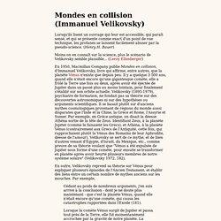 Mondes en collision (Immanuel Velikovsky)