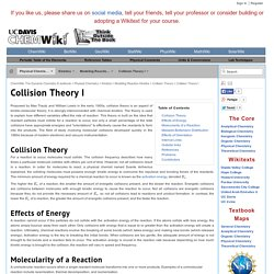 Collision Theory I