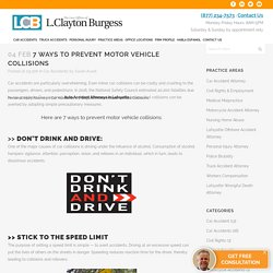7 Ways to Prevent Motor Vehicle Collisions