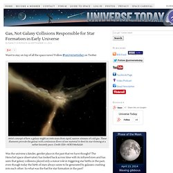 Gas, Not Galaxy Collisions Responsible for Star Formation in Early Universe