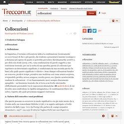 """Collocazioni in """"Enciclopedia dell'Italiano"""""""