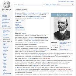 Biografía de Carlo Collodi