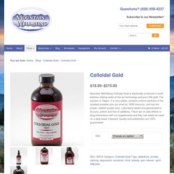 Colloidal Gold - Mountain Well-Being